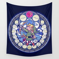 bow Wall Tapestries featuring Bow & Arrow by NicoleGrahamART