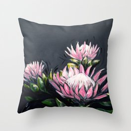 Sugar Bush Proteas Throw Pillow