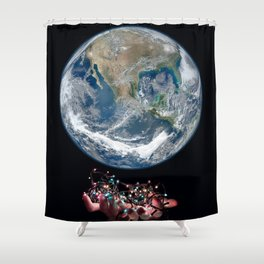 Long Distance Shower Curtain