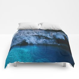 NATURE'S WONDER #5 - BLUE GROTTO (Turkey) #2 #art #society6 Comforters
