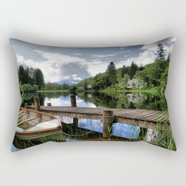 Tranquility At Loch Ard Rectangular Pillow