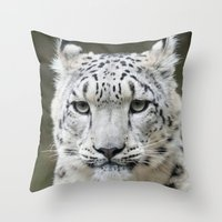 leopard Throw Pillows featuring Leopard by WonderfulDreamPicture