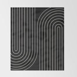 Minimal Line Curvature II Throw Blanket
