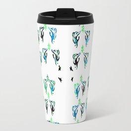 blue green cats Travel Mug