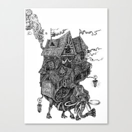 the wandering library 2 Canvas Print