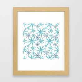 Blue Snowflakes Framed Art Print