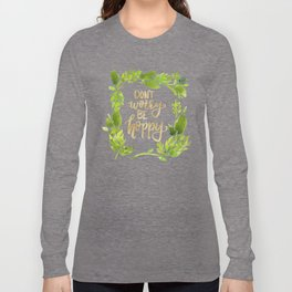 Don't worry be hoppy (green and gold palette) Long Sleeve T-shirt