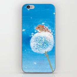 Harvest mouse on the Dandelion iPhone Skin