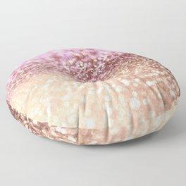 Mermaid Rose Gold Blush Glitter Floor Pillow