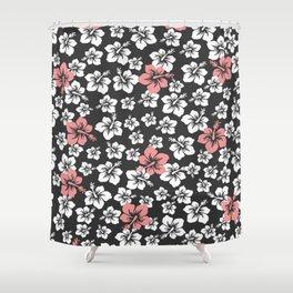 Hibiscus' storm Shower Curtain