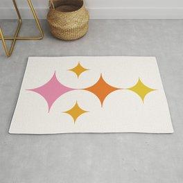 Abstraction_STAR_LOVE_POP_ART_Minimalism_001X Rug
