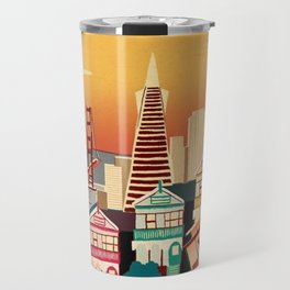 san francisco new art love illustration cute cover case skin floor pillow 2018 trend popular sticker Travel Mug