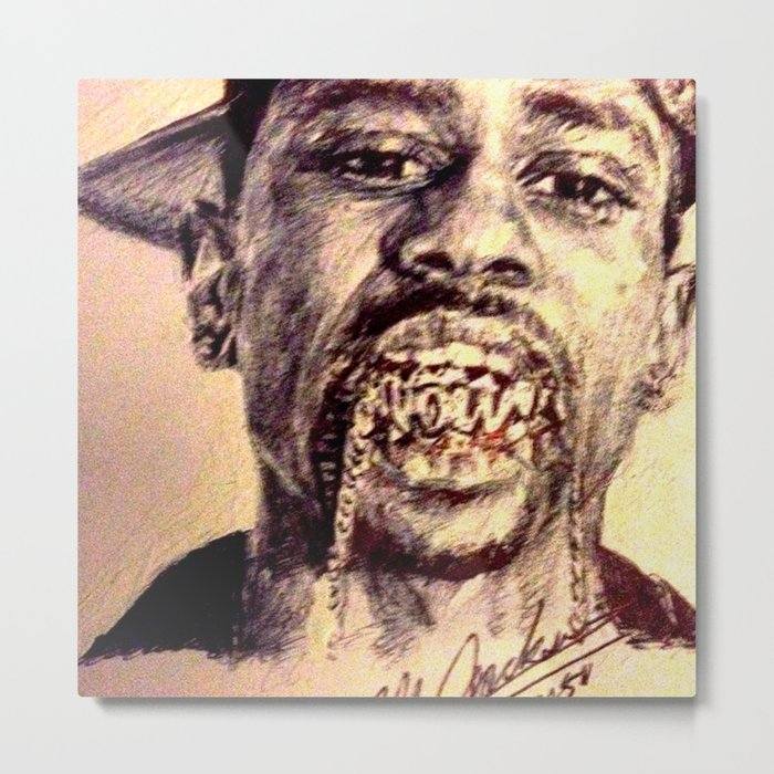 Chains in my Mouth Metal Print