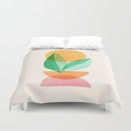Summer Stack / Abstract Plant Illustration Duvet Cover
