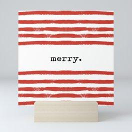 red stripes-merry Mini Art Print