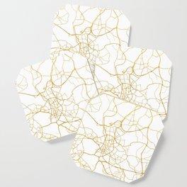 DÜSSELDORF GERMANY CITY STREET MAP ART Coaster