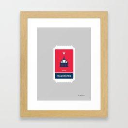 Washington Baseball Ticket (8 of 30) Framed Art Print