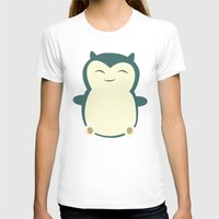 snorlax T-shirts featuring It aint easy being sleepy. by Glassy