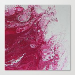 Tentacles, abstract acrylic fluid painting Canvas Print
