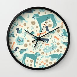 Park Dogs Wall Clock