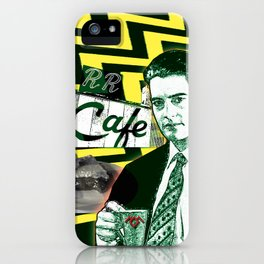 """Twin Peaks Agent Cooper """"A Damn Fine Cup of Coffee iPhone Case"""