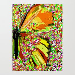 Butterfly Autumn So Pretty ORANGE AND GOLD Poster