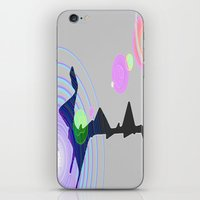 plain iPhone & iPod Skins featuring Distant Plain by Lior Blum