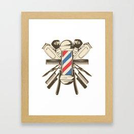 Barber Accessories | Beard Hairdresser Framed Art Print