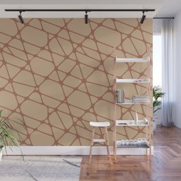 Cavern Clay SW 7701 Abstract Mosaic Pattern 2 on Ligonier Tan SW 7717 Wall Mural