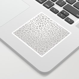 Silver Leopard Sticker