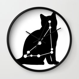 capricorn cat Wall Clock