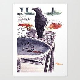 Tuileries Crow Art Print