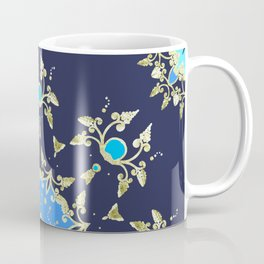 Golden and blue pattern Coffee Mug