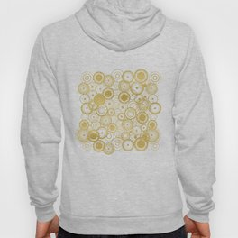 Circles Galore in Gold Hoody