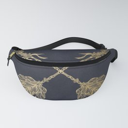 Arrows Gold Copper Bronze on Navy Blue Fanny Pack