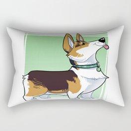 Lizbeth the Corgi Caricature Rectangular Pillow