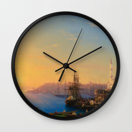 Ivan Aivazovsky - View of Constantinople and the Bosphorus Wall Clock