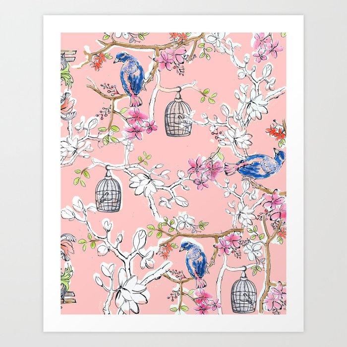 Victorian Birds garden Art Print