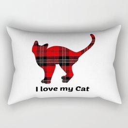 I Love My Cat Rectangular Pillow