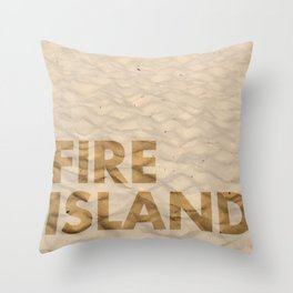 FIRE ISLAND Throw Pillow