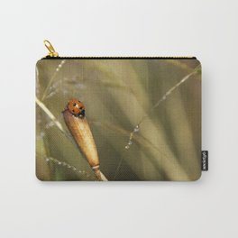 Morning Dew On Lady Bird Carry-All Pouch