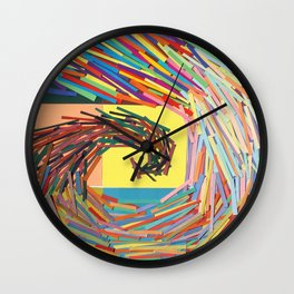 colour swirl  Wall Clock
