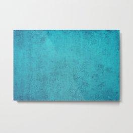 blue wall vintage  background,  stone texture, retro style Metal Print