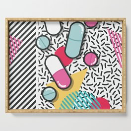 Pills pattern 018 Serving Tray
