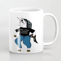 he man Mugs featuring Unicorn vs. He-Man by Ruben Alexander
