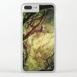 through darkness & light Clear iPhone Case