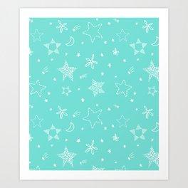 Star Doodles Art Print