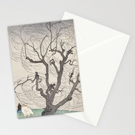A Gust of Wind by Emil Orlik, 1901 Stationery Cards