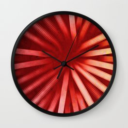 Intersecting-Red Wall Clock