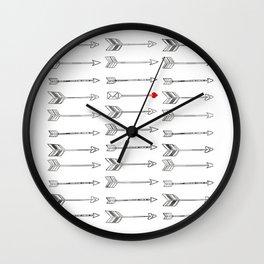 Minimal Love Arrow Wall Clock